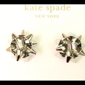 Kate Spade Bourgeois Bow Silver Stud Earrings